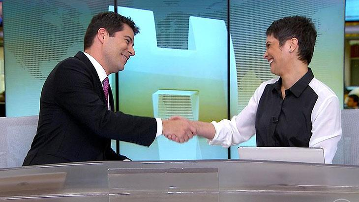 Sandra Annenberg se despede de Evaristo Costa