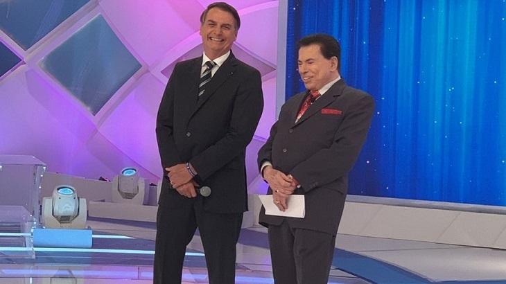 Jair Bolsonaro ao lado de Silvio Santos