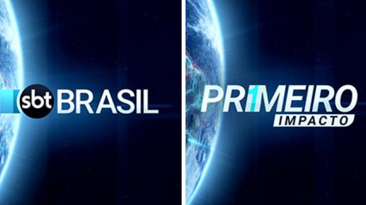 Logo do Primeiro Impacto e SBT Brasil