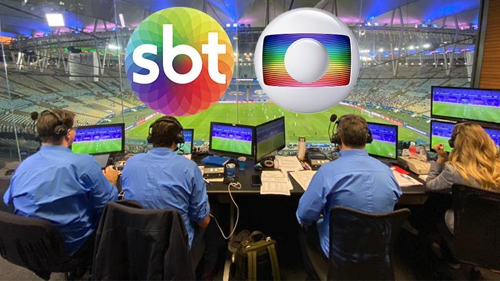 equipe esportiva do SBT no Maracanã durante Copa América