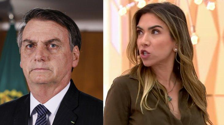 Jair Bolsonaro, à esquerda, e Patrícia Abravanel, à direita, em montagem do NaTelinha