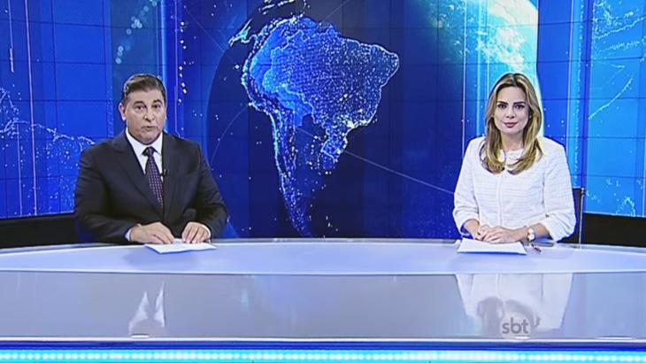 Carlos Nascimento e Rachel Sheherazade