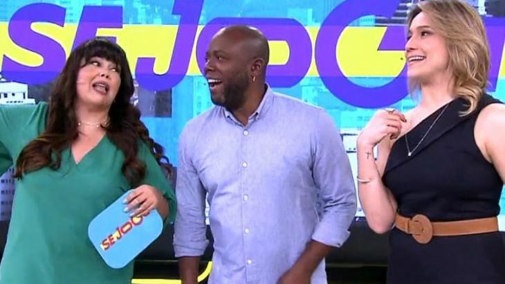 Fabiana Karla, Érico Brás e Fernanda Gentil: os apresentadores do Se Joga - Reprodução/TV Globo