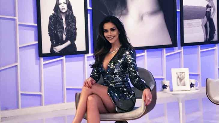 Daniela Albuquerque reproduz clipe de Anitta na estreia do