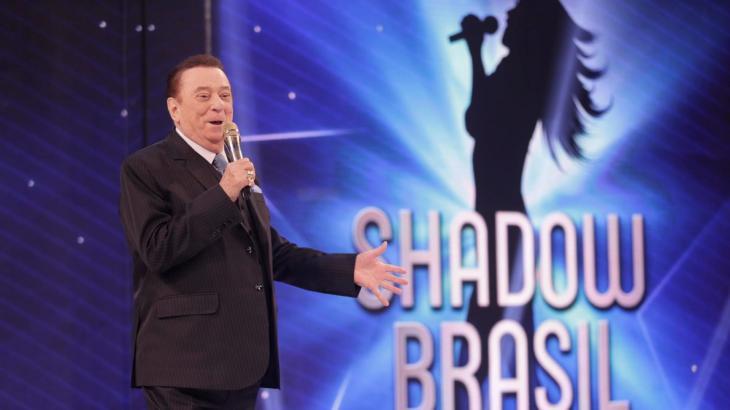 Raul Gil apresentando o quadro Shadow Brasil - Divulgação/SBT
