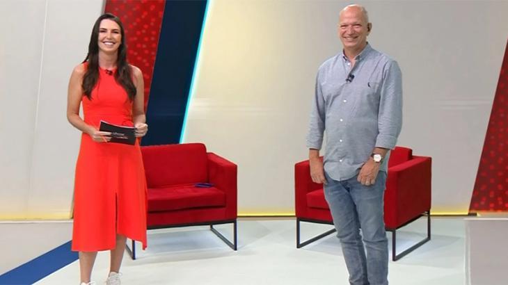 Glenda Kozlowski e Elia Jr no Show do Esporte
