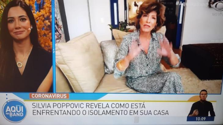 Silvia Poppovic explica como está enfrentando quarentena - Reprodução/TV Bandeirantes