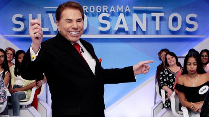 Silvio Santos durante programa
