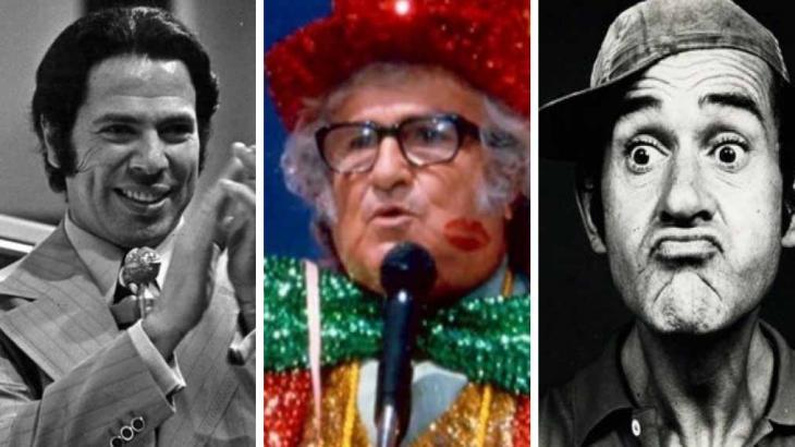 Silvio Santos, Chacrinha e Ronald Golias podem cair bem na quarentena - Reprodução/Montagem NaTelinha
