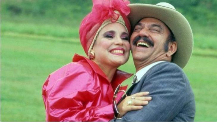 Regina Duarte e Lima Duarte em Roque Santeiro (1985), novela que entrará para o catálogo do Globoplay