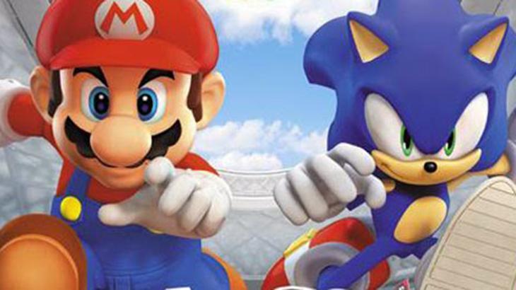 Os personagens Mario e Sonic, da Nintendo e Sega, respectivamente
