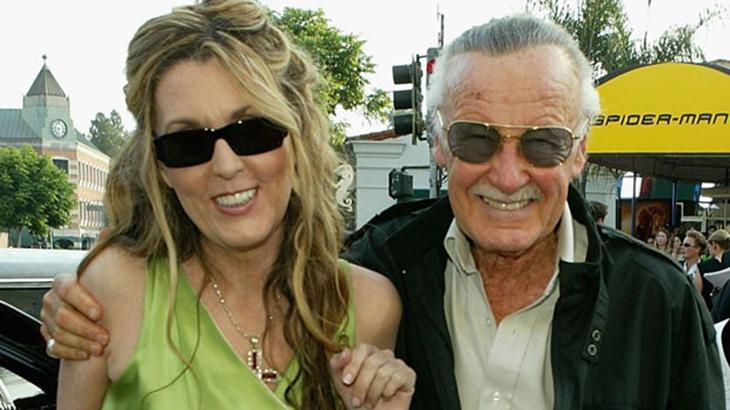 Stan Lee a filha - Reprodução