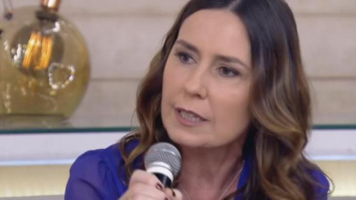Susana Naspolini durante participação em programa de TV