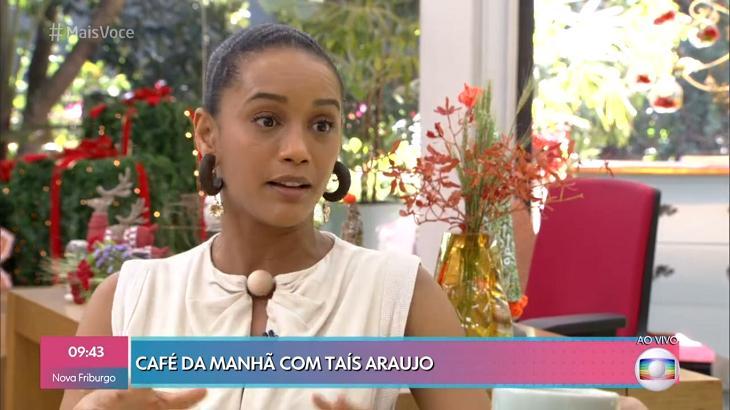 Taís Araújo no Mais Você - Foto: Reprodução/Globo