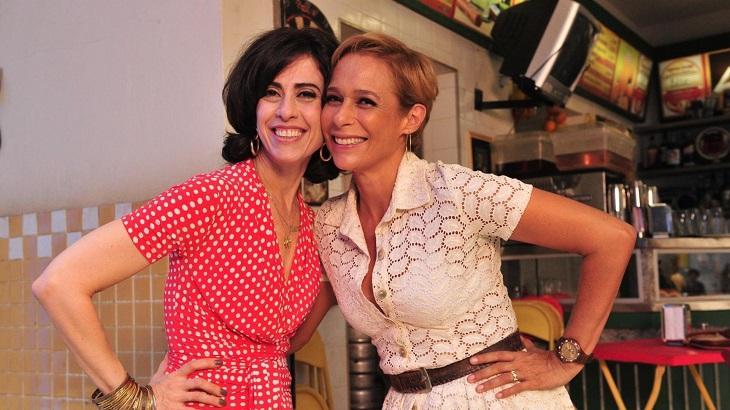 Fernanda Torres e Andréa Beltrão divulgando Tapas & Beijos