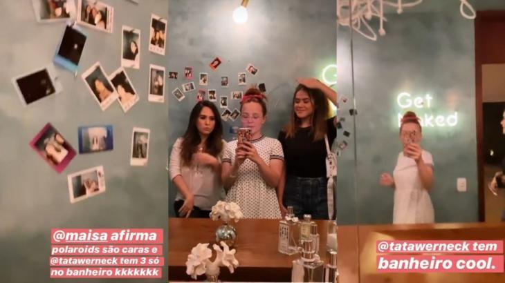 Larissa Manoela e Maisa visitaram Tatá Werneck e Rafa Vitti - Instagram/Reprodução