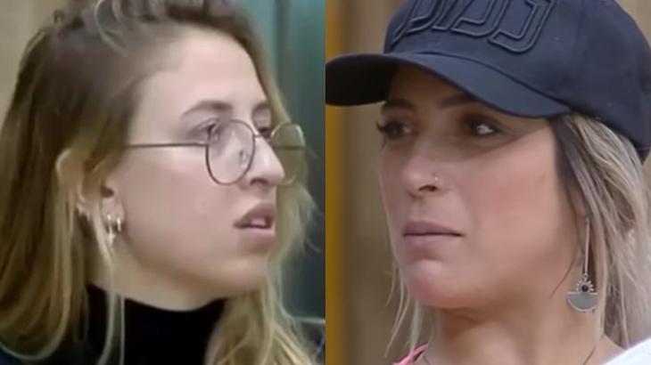 Bifão e Tati Dias seguem como rivais no reality show A Fazenda 2019 (Reprodução/Montagem)
