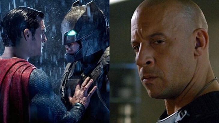 Batman vs Superman não conseguiu a mesma audiência que Velos & Furiosos - Foto: Montagem