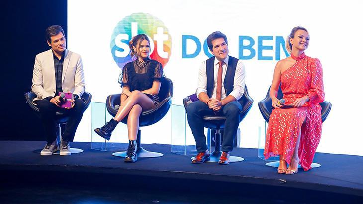 Padrinhos Celso Portiolli, Maisa Silva, Daniel e Eliana lançaram o Teleton 2019 - Foto: Gabriel Cardoso/SBT