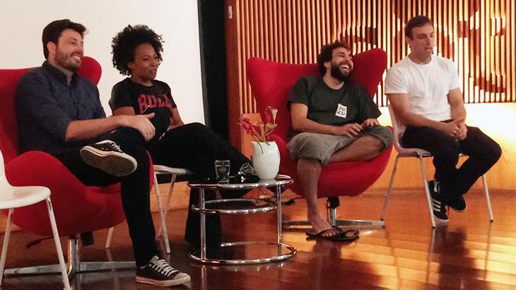 """Danilo Gentili fala sobre carreira e \""""The Noite\"""" grava pegadinha com o NaTelinha"""