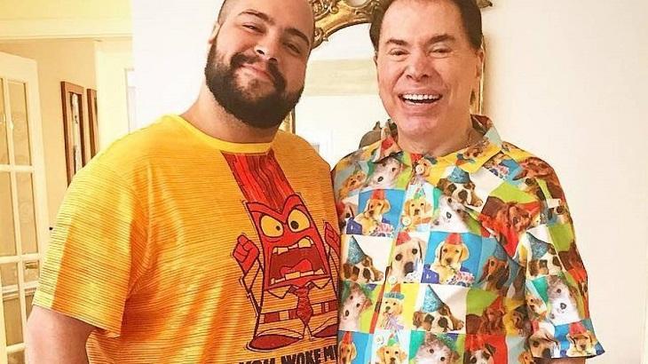 Tiago Abravanel ao lado de Silvio Santos - Foto: Reprodução