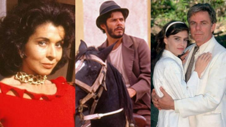 Betty Faria, José Mayer, Lídia Brondi e Reginaldo Faria estavam no elenco de Tieta, exibida entre 1989 e 1990 - Foto: Montagem NT
