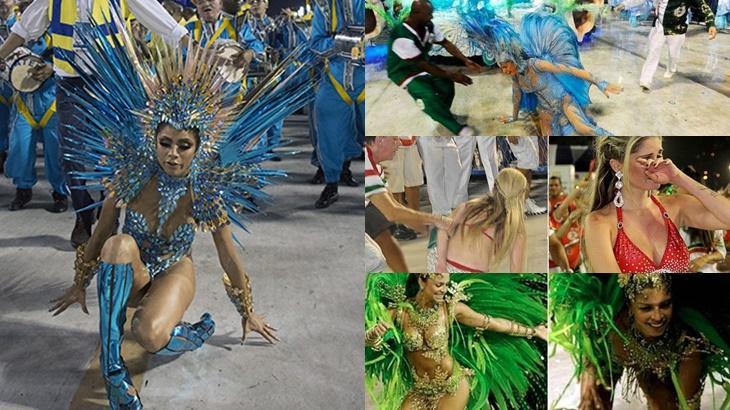 Lexa, Grazi Massafera, Bárbara Evans e outras famosos que já se estabacaram no Carnaval - Foto: Reprodução/Montagem