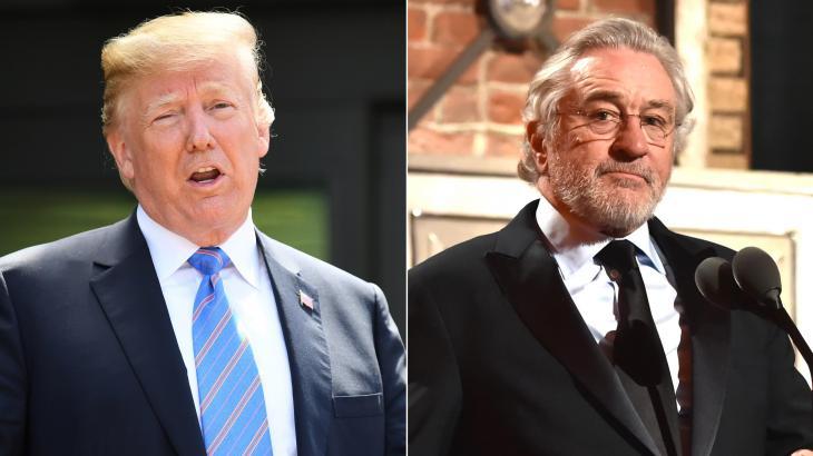 """Donald Trump responde Robert de Niro e debocha: """"Indivíduo de QI muito baixo"""""""