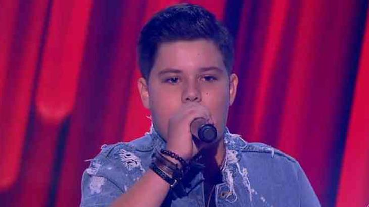 Tuca Almeida participou do The Voice Kids em 2018 - Foto: Globo