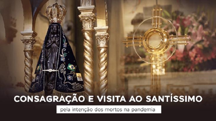 Imagem da TV Aparecida com Nossa Senhora Aparecida