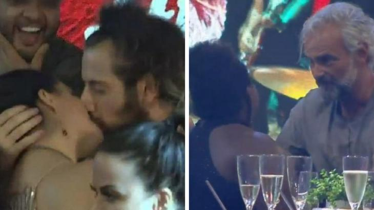 Cartolouco e Luiza se beijando e Mateus e Jojo fazendo as pazes