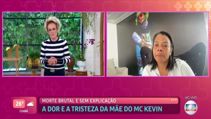 Valquíria Nascimento, mãe de MC Kevin, conversa com Ana Maria Braga em entrevista ao Mais Você