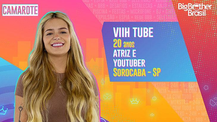 Natural de Sorocaba, interior de São Paulo, Viih Tube tem 20 anos, é atriz e youtuber