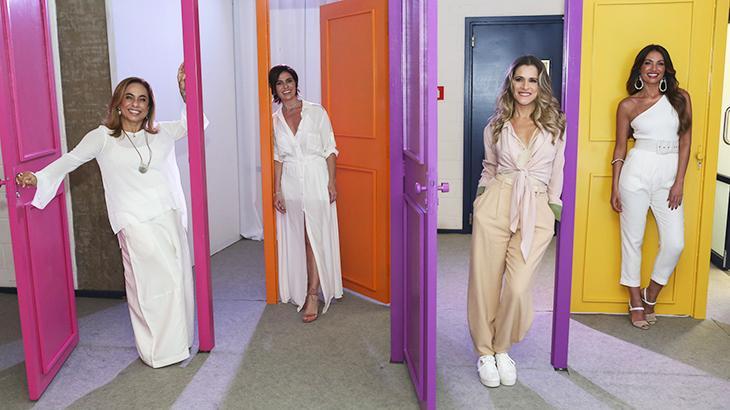 Cissa Guimarães, Giovanna Antonelli, Ingrid Guimarães e Patrícia Poeta fizeram parte da vinheta - Divulgação/TV Globo