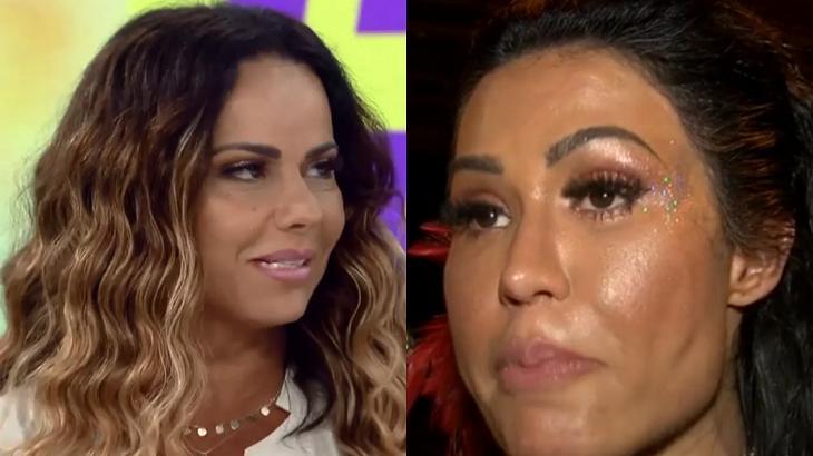 Viviane Araújo afirmou que quer engravidar um dia depois da afirmação de Gracyanne Barbosa - Foto: Montagem