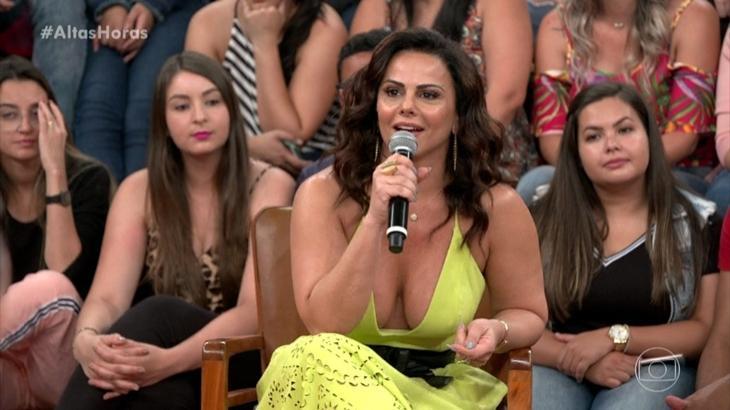 Viviane Araújo durante o programa Altas Horas, da Globo. (Reprodução)