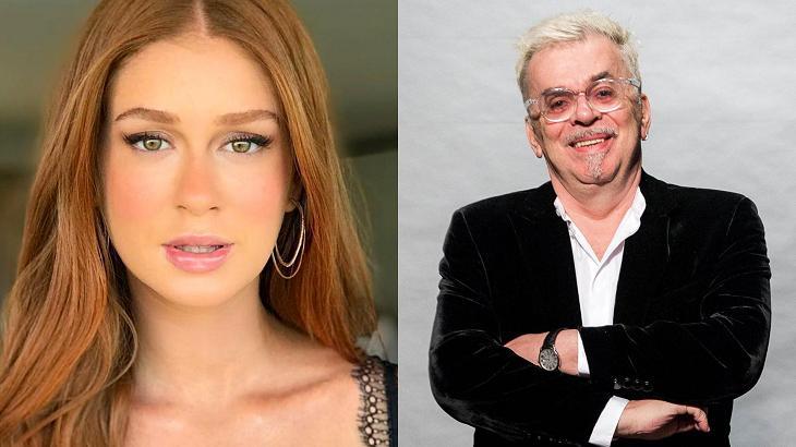 Marina Ruy Barbosa e Walcyr Carrasco