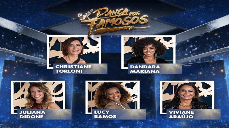 Montagem com o elenco do Super Dança dos Famosos