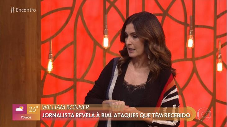Fátima Bernardes elogiou William Bonner - Foto: Reprodução/Globo