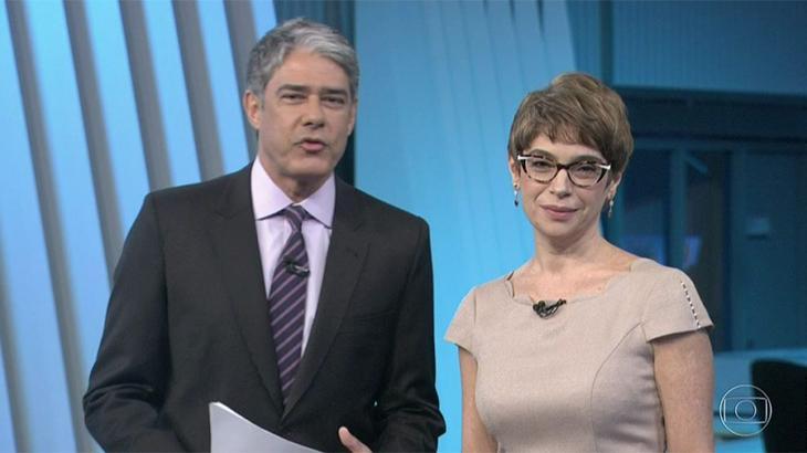 William Bonner e Renata Lo Prete comandaram a cobertura das eleições no