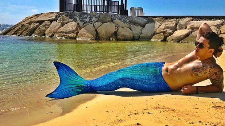 Whinderson Nunes posta foto com cauda de sereia e é comparado a Ritinha