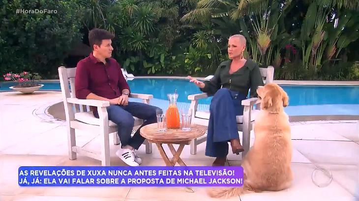 Rodrigo Faro entrevistou a apresentadora Xuxa - Foto: Reprodução/Record