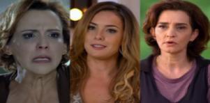 Ana Beatriz Nogueira, Regiane Alves e Gisele Fróes em cenas da novela A Vida da Gente, em reprise na Globo