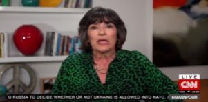 Christiane Amanpour em seu programa diário