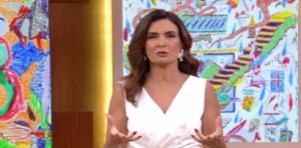 Fátima Bernardes apresentando o Encontro