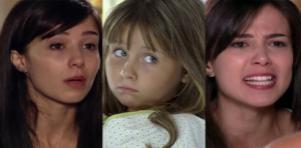 Cenas de A Vida da Gente, da Globo, com Manuela e julia em montagem