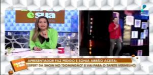 Sônia Abrão colocou Tiago Leifert no tapete vermelho