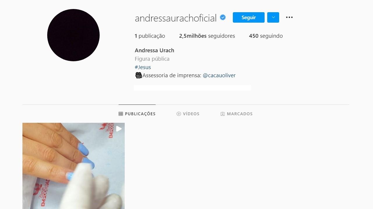 Grávida, Andressa Urach apaga todas as fotos do Instagram após separação