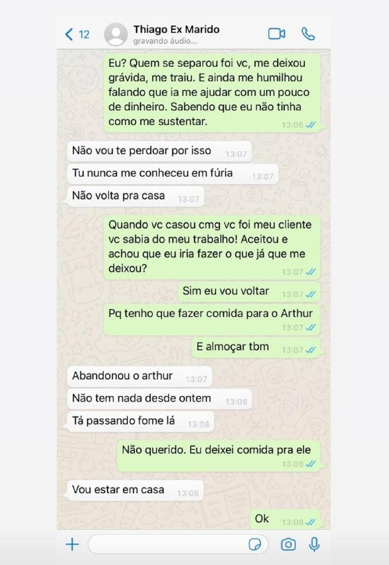 Andressa Urach mostra conversa com ex, diz que foi traída e confirma prostituição