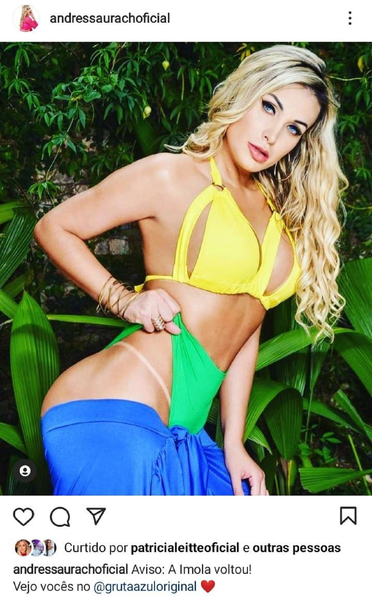 Após ser tirada de prostíbulo pelo ex, Andressa Urach apaga foto de anúncio